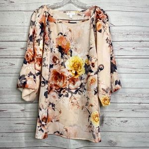Charter Club plus Sz floral print flowy top